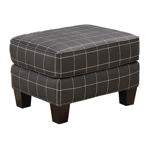 Broyhill Furniture Mazie Transitional Ottoman with Tapered Wood Feet