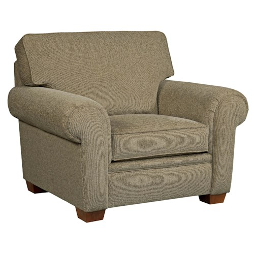 Broyhill Furniture Miller Casual Chair and a Half with Rolled Arms