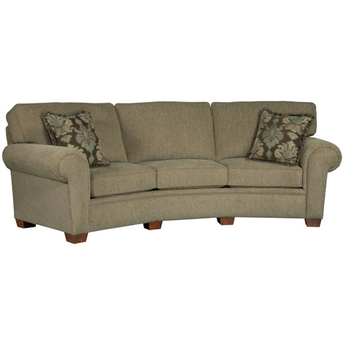 Broyhill Furniture Miller Casual Conversation Sofa w/ Rolled Arms