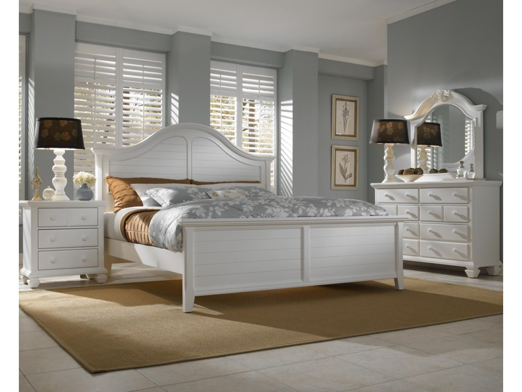Shown with Optional Footboard, Nightstand, Dresser & Mirror