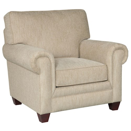 Broyhill Furniture Monica Transitional Upholstered Arm Chair with Rolled Arms