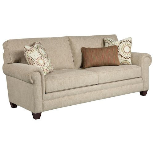 Broyhill Furniture Monica Transitional Queen Goodnight Sleeper Sofa with Rolled Arms