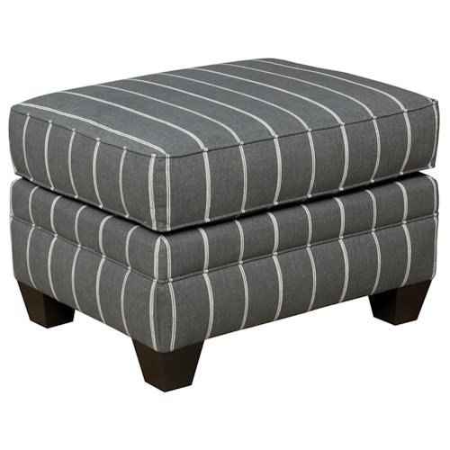 Broyhill Furniture Monica Rectangular Ottoman with Exposed Wood Feet