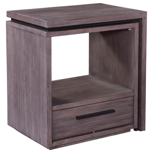 Broyhill Furniture Moreland Ave Shelter Nightstand with Open Cubby