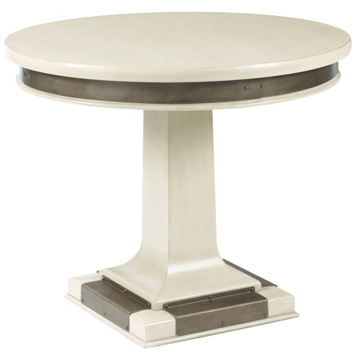 Broyhill Furniture New Vintage Cafe Dining Table with Metal Accents