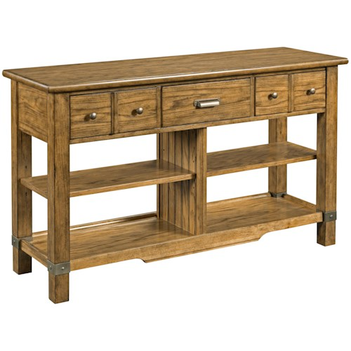 Broyhill Furniture New Vintage Console Table with 3 Drawers
