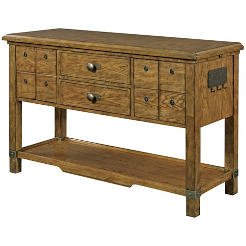Broyhill Furniture New Vintage Sideboard with Outlet and Hooks