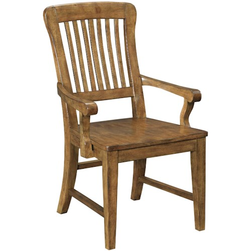 Broyhill Furniture New Vintage School House Wood Seat Arm Chair