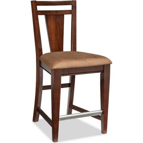 Broyhill Furniture Northern Lights Counter Stool with Upholstered Seat