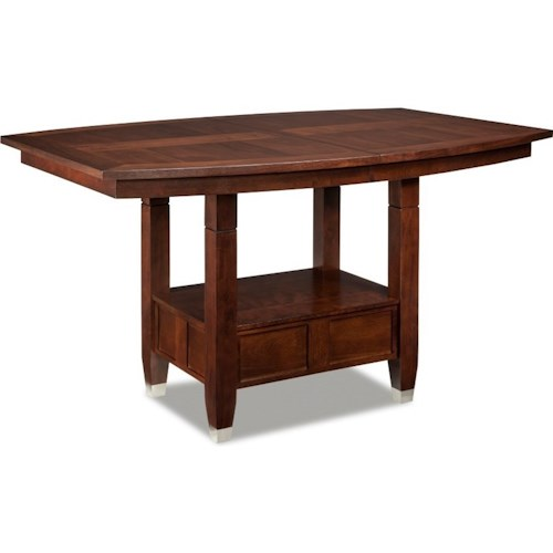 Broyhill Furniture Northern Lights Adjustable Height Dining Table with 18