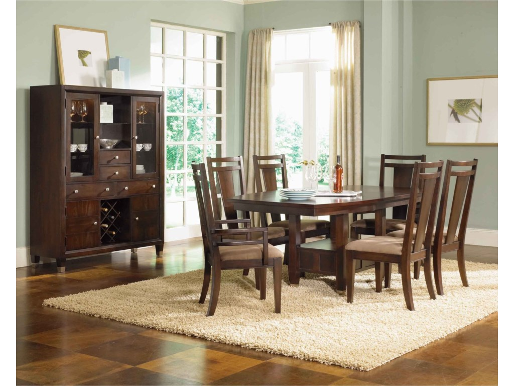 Broyhill Dining Room Table Broyhill Furniture Northern Lights Dining Buffet And China Hutch