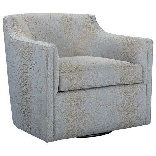 Broyhill Furniture Personalities Accent Chairs Gayle Swivel Chair with Curved Barrel Back
