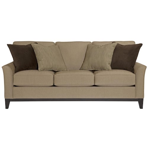 Broyhill Furniture Perspectives Stationary Sofa with Exposed Wood Tapered Legs