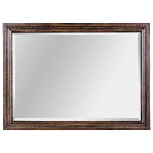 Broyhill Furniture Pike Place Picture Frame Mirror with Mirror Hangers