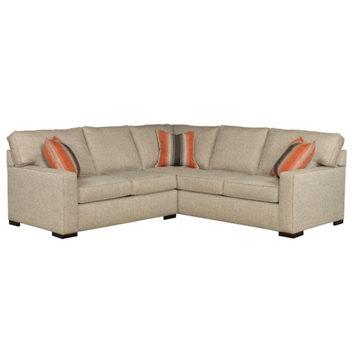 Broyhill Furniture Raphael Contemporary Two Piece Sectional Sofa with LAF Corner Sofa and Track Arms