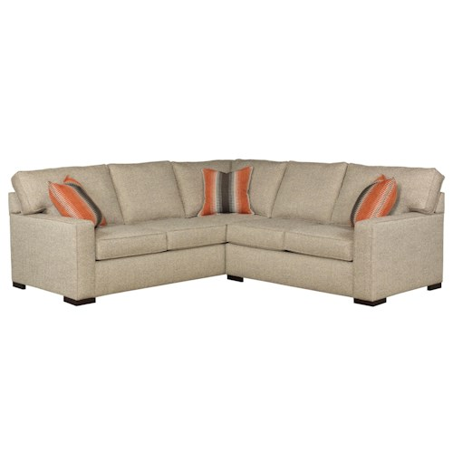 Broyhill Furniture Raphael Contemporary Two Piece Sectional Sofa with RAF Corner Sofa and Track Arms