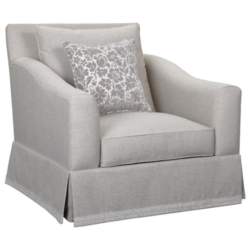 Broyhill Furniture Regina Chair & 1/2 with Decorative Border