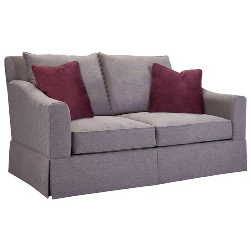 Broyhill Furniture Regina Apartment Sofa with Gently Sloping Arms
