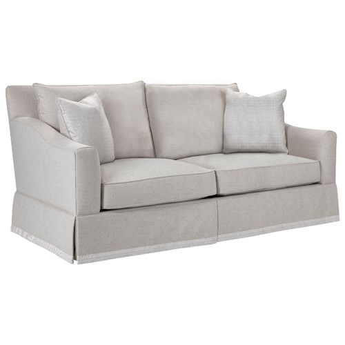 Broyhill Furniture Regina Apartment Sofa with Decorative Border Skirt