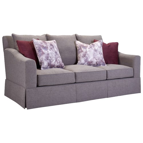Broyhill Furniture Regina Sofa with Gently Sloped Arms
