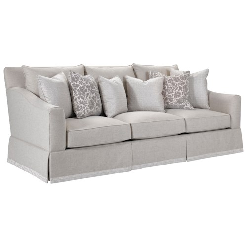 Broyhill Furniture Regina Sofa with Decorative Border Skirt