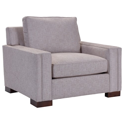 Broyhill Furniture Rocco Chair & 1/2 with Sleek Track Arms