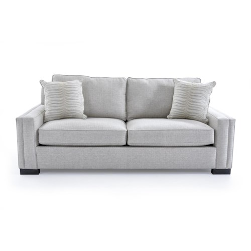 Broyhill Furniture Rocco Apartment Sofa with Sleek Track Arms