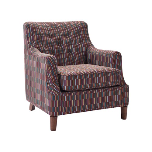 Broyhill Furniture Rumer Transitional Chair with Tufted Back