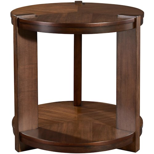 Broyhill Furniture Ryleigh Round End Table with Shelf