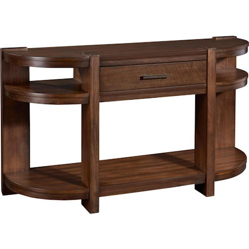 Broyhill Furniture Ryleigh Media Console Table with 3 Shelves