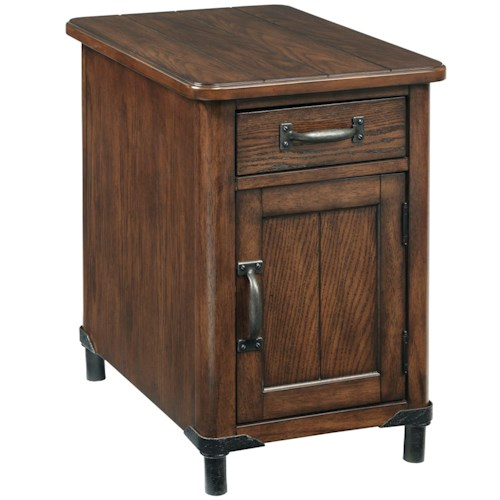 Broyhill Furniture Saluda Chairside Chest with Magazine Storage