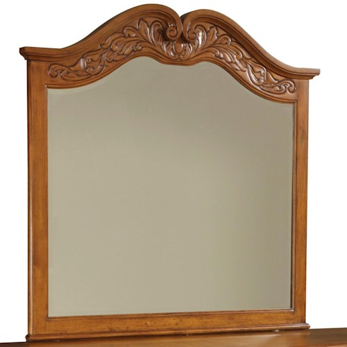 Broyhill Furniture Samana Cove Arched Dresser Mirror with Carved Detailing