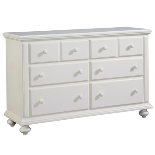 Broyhill Furniture Seabrooke 6 Drawer Dresser with Bun Feet
