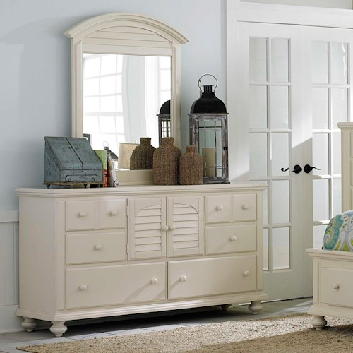 Broyhill Furniture Seabrooke 2 Door Dresser with Mirror