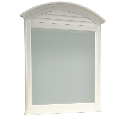 Broyhill Furniture Seabrooke Dresser Mirror with Arched Louver Top