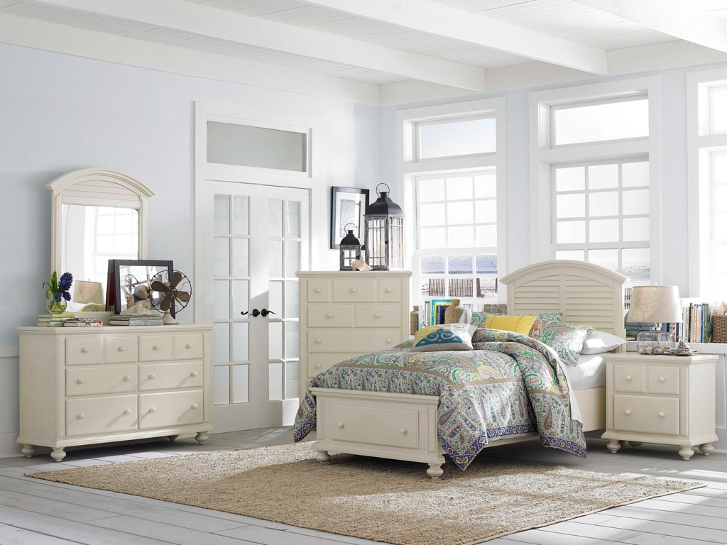 Shown with Drawer Dresser, Louvered Mirror, Chest and Nightstand