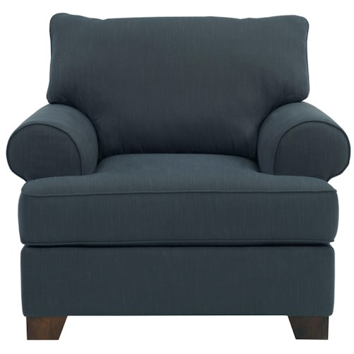 Broyhill Furniture Serenity Upholstered Chair with Rolled Sock Arms