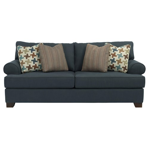 Broyhill Furniture Serenity Queen Air Dream Sofa Sleeper with Rolled Sock Arms
