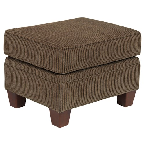 Broyhill Furniture Travis Rentangular Ottoman with Tapered Wood Feet
