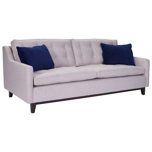 Broyhill Furniture Tula Mid-Century Modern Sofa with Wood Base