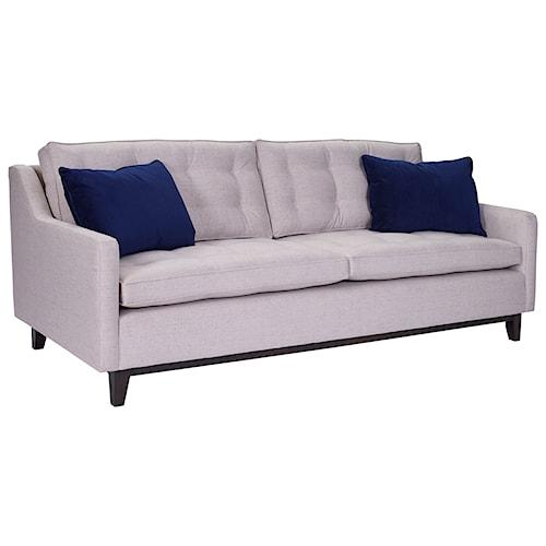 Broyhill Furniture Tula Mid-Century Modern Sofa with Wood Base
