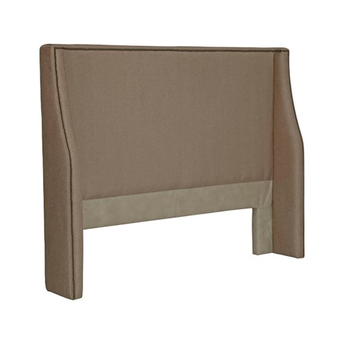 Broyhill Furniture Upholstered Headboards Hamlyn King Size Upholstered Headboard With Nail Trim