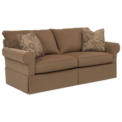 Broyhill Furniture Uptown Traditional Queen IREST Sleeper Sofa with Skirt