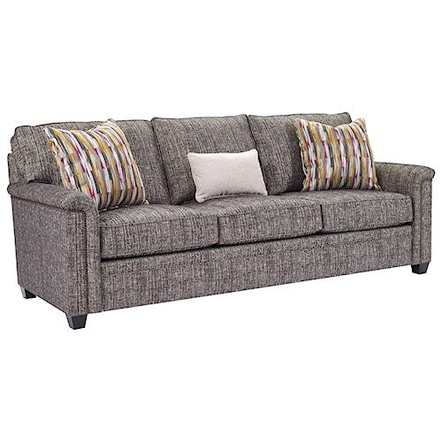 Broyhill Furniture Warren Sofa with Nailhead Trim Accents