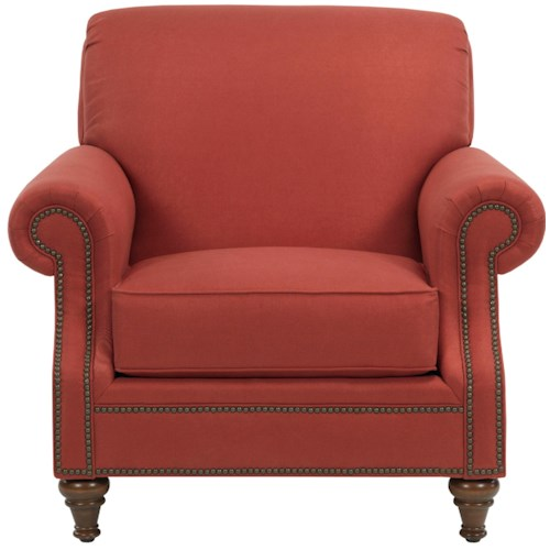 Broyhill Furniture Windsor Upholstered Chair with Rolled Arms