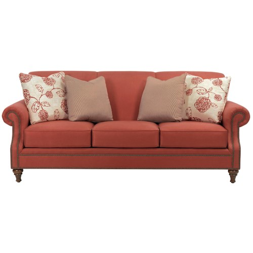 Broyhill Furniture Windsor Sofa with Rolled Arms