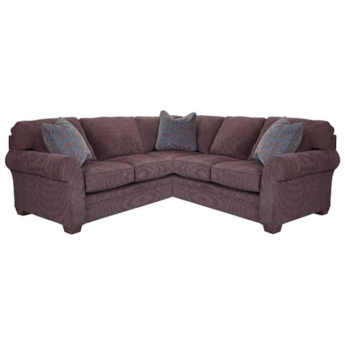 Broyhill Furniture Zachary Sectional Sofa with LAF Corner Sofa and Rolled Arms