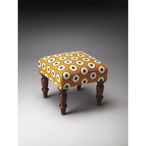 Butler Specialty Company Accent Seating Samina Cotton Upholstered Stool