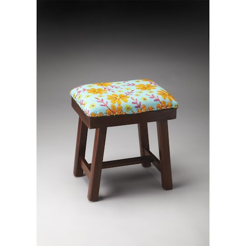 Butler Specialty Company Accent Seating Claudia Cotton Upholstered Stool