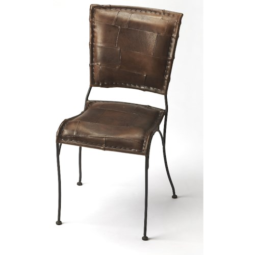 Butler Specialty Company Accent Seating Maverick Iron & Leather Side Chair
